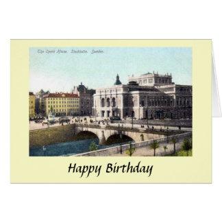 Carte d'anniversaire - théatre de l'opéra,