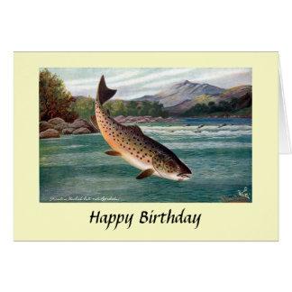 Carte d'anniversaire - truite