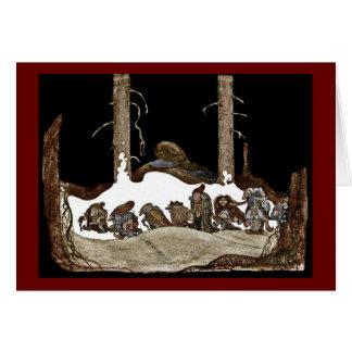 Carte Dans la nuit de Noël -