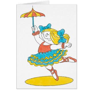 Carte Danse avec le parapluie