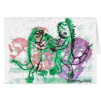 Carte Danse d'iguane avec vous