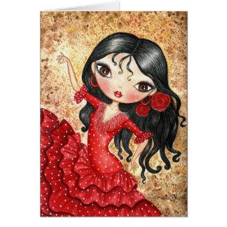 """Carte """"Danseur de flamenco """""""
