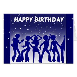 Carte Danseurs de disco de joyeux anniversaire