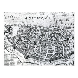 Carte d'Anvers Carte Postale