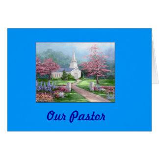 Carte d'appréciation de pasteur