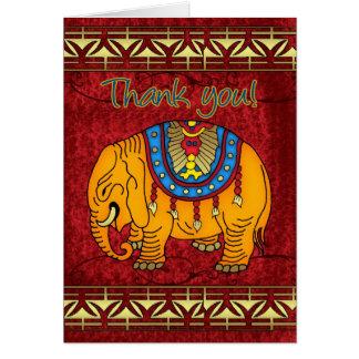 Carte d'appréciation d'éléphant - appréciation
