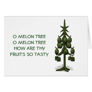 Carte D'arbre de Noël étrange de pastèques