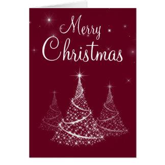 Carte d'arbres de Joyeux Noël