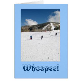 Carte d'aventure de vacances d'hiver