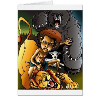 Carte David et le lion