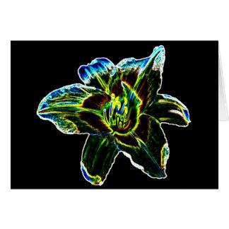 Carte Daylily coloré