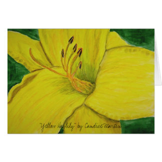 "Carte ""Daylily jaune"" par Candice Martin"
