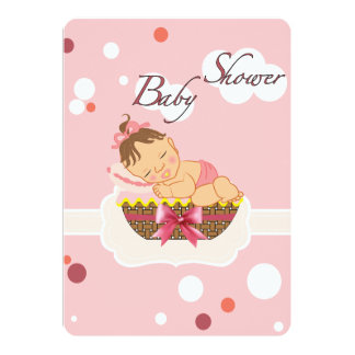 carte de baby shower pour la fille carton d'invitation  12,7 cm x 17,78 cm
