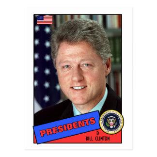 Carte de base-ball de Bill Clinton