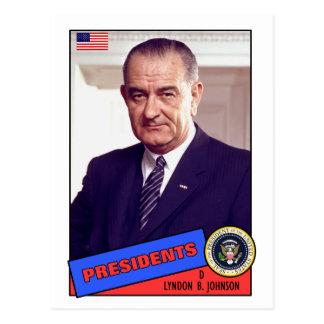 Carte de base-ball de Lyndon B. Johnson
