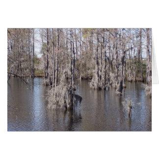 Carte de bayou de la Louisiane
