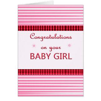 Carte de bébé de félicitations