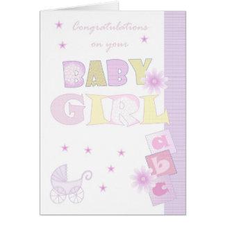 Carte de bébé de félicitations, nouveau bébé