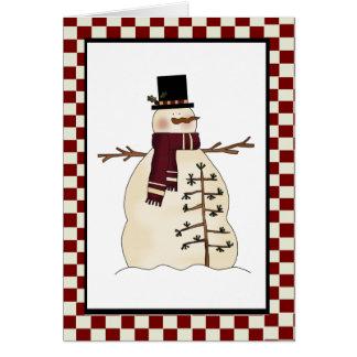 Carte de bonhomme de neige de pays