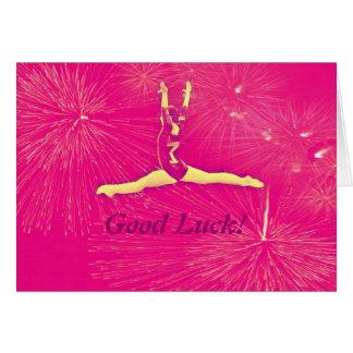Carte de bonne chance de gymnaste
