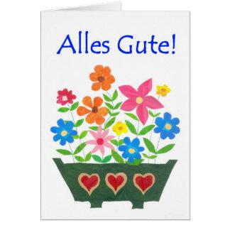 Carte de bonne chance, salutation allemande -