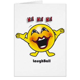Carte de boule de rire