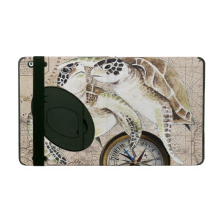 Carte de boussole de tortues de mer coque iPad