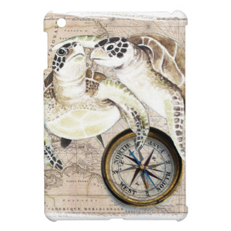 Carte de boussole de tortues de mer coque iPad mini