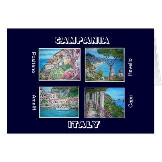 Carte de Campanie, Italie