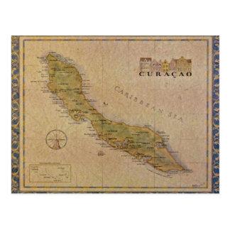 Carte de carte postale du Curaçao