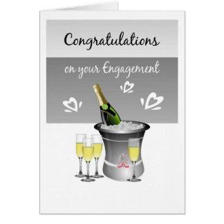Carte de Champagne de félicitations pour les