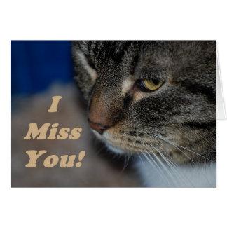 Carte de chat de Kitty tu me manque