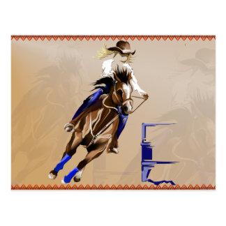 Carte de Cheval-Courrier de baril