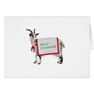 Carte de chèvre de Joyeux Noël