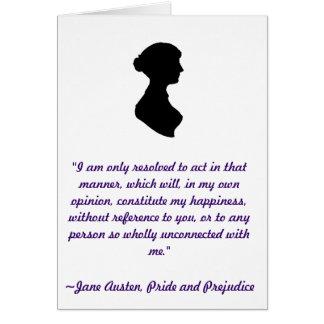 Carte de citation de Jane Austen