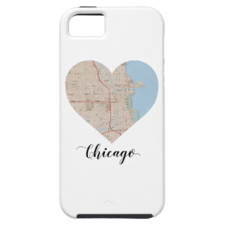 Carte de coeur de Chicago iPhone 5 Case