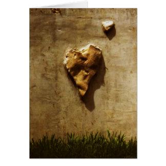 """Carte """"de coeur froid en pierre"""" -"""