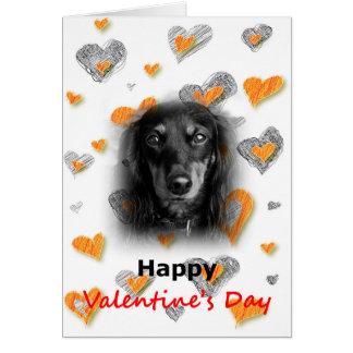 Carte de coeurs de heureuse Sainte-Valentin de