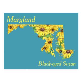 Carte de collage de fleur d'état du Maryland