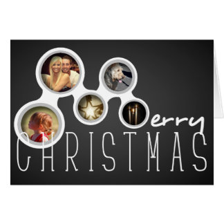 Carte de collage de photo de Joyeux Noël