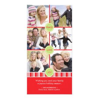 Carte de collage de photo de vacances de menthe po carte avec photo