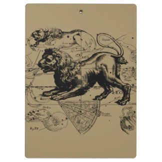 Carte de constellation de Lion Hevelius 1690 sur