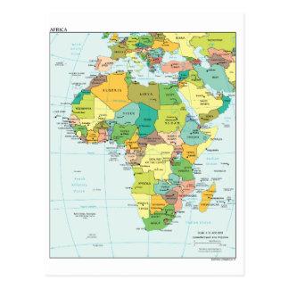 Carte de continent de l'Afrique