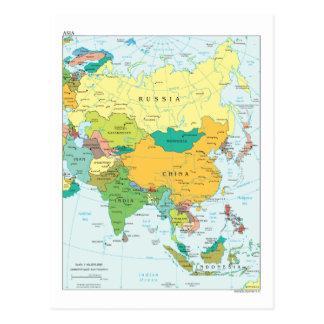 Carte de continent de l'Asie