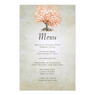 Carte de corail de menu d'arbre de feuille de