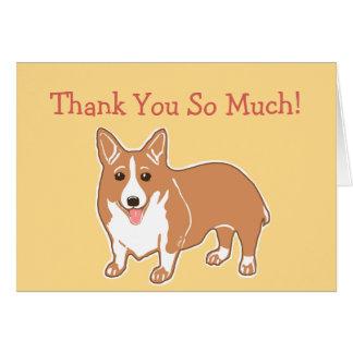Carte de corgi de Merci tellement