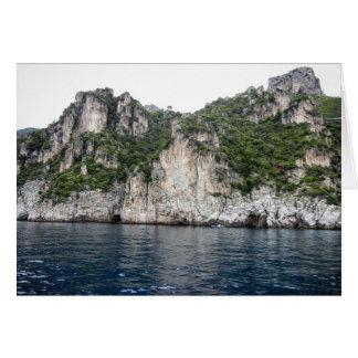 Carte de côte d'Amalfi