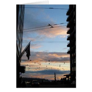 Carte de coucher du soleil de Seattle