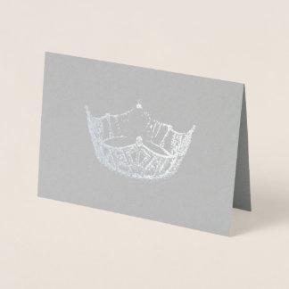 Carte de couronne contrecarrée par argent de style