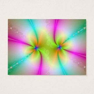 Carte de danse de couleur carte de visite grand format